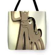 Gumby And Pokey B F F In Sepia Tote Bag