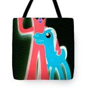 Gumby And Pokey B F F Negative Tote Bag