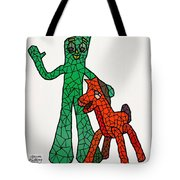 Gumby And Pokey Not For Sale Tote Bag