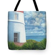 Gun Cay Lighthouse Tote Bag