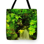 Gurgling Down The Mountain Tote Bag