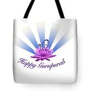 Gurupurab Greetings Tote Bag