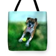 Gus The Rescue Dog Tote Bag