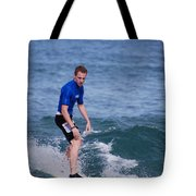 Guy Surfing Tote Bag