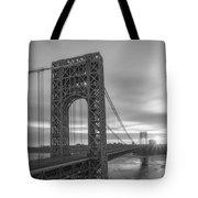 Gw Bridge Le Wide Crop Bw Tote Bag