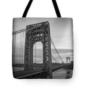 Gw Bridge Winter Sunrise Tote Bag