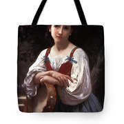 Gypsy Girl With A Basque Drum Tote Bag