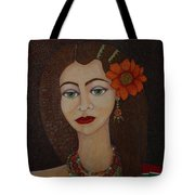 Gypsy With Green Eyes Tote Bag