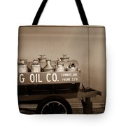 H And G Oil Company In Sepia Tote Bag