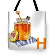 H Art Alphabet For Kids Room Tote Bag