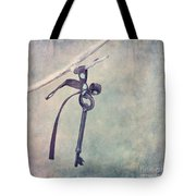 Key With A Ribbon Tote Bag