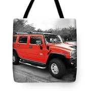 Red Hummer H2 Series  Tote Bag