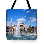 Haghia Sophia Fountain Tote Bag
