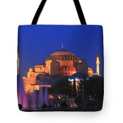 Hagia Sophia At Night Istanbul Turkey  Tote Bag
