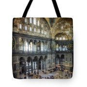 Hagia Sophia Interior Tote Bag by Joan Carroll