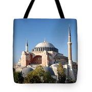 Hagia Sophia Mosque Landmark In Instanbul Turkey Tote Bag