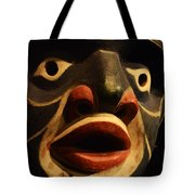 Haida Carved Wooden Mask 5 Tote Bag