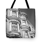 Haight Street Windows Bw Tote Bag
