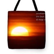 Haiku Sundown Tote Bag