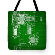 Hair Dryer Patent 1929 - Green Tote Bag