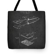 Hair Straightener Patent From 1909 - Charcoal Tote Bag