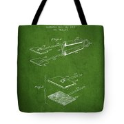 Hair Straightener Patent From 1909 - Green Tote Bag