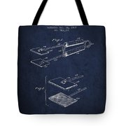 Hair Straightener Patent From 1909 - Navy Blue Tote Bag