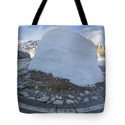 Hairpin Bend With Snow Tote Bag