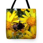 Hairy Visitor Tote Bag