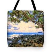 Hala Trees At Ka'anae Point Tote Bag