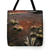 Haleakala - Red And Black Tote Bag