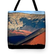 Haleakala Cinder Cones Lit From The Sunrise Within The Crater Tote Bag
