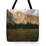 Half Dome And The Yosemite Valley Tote Bag