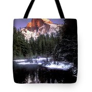 Half Dome Reflection Yosemite National Park California Tote Bag