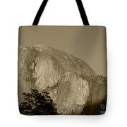 Half Dome Sepia Tote Bag