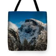 Half Dome Winter Tote Bag by Bill Gallagher