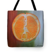Half Orange Tote Bag