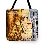 Half Wont Do Tote Bag
