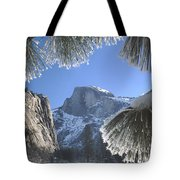 2m6757-halfdome In Winter Tote Bag