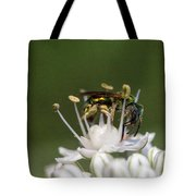 Halicid Bee Amongst The Anthers Tote Bag