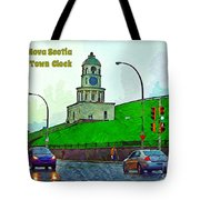 Halifax Historic Town Clock Poster Tote Bag