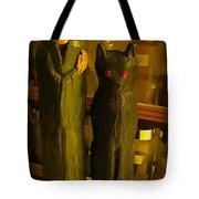 Halifax Kitchen Witch And Familiar Tote Bag