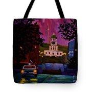 Halifax Night Patrol And Town Clock Tote Bag