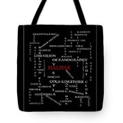 Halifax Nova Scotia Crosswords Red Tote Bag
