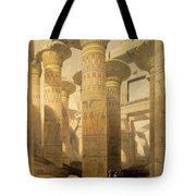 Hall Of Columns, Karnak, From Egypt Tote Bag by David Roberts