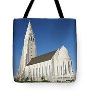 Hallgrimskirkja Church In Reykjavik Iceland Tote Bag