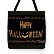 Halloween Bat Border Tote Bag