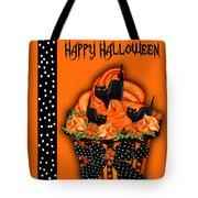 Halloween Black Cat Cupcake 3 Tote Bag