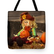 Halloween Doll Tote Bag