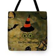 Halloween Eyes Tote Bag